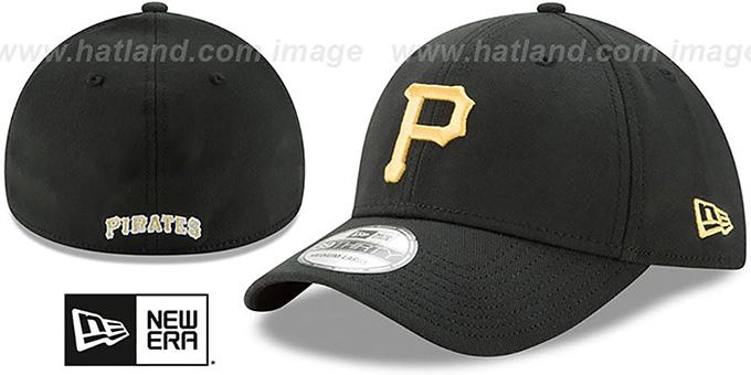 a4796260bfcdf Pittsburgh Pirates TEAM-CLASSIC Black Flex Hat by New Era