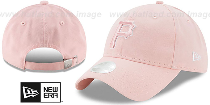 Pirates 'WOMENS PREFERRED PICK STRAPBACK' Light Pink Hat by New Era : pictured without stickers that these products are shipped with