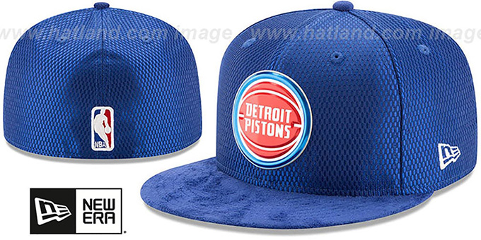 separation shoes 21dd6 372d0 Pistons  2017 ONCOURT DRAFT  Royal Fitted Hat by New Era. Click Thumbnails  for Alternate Views ...