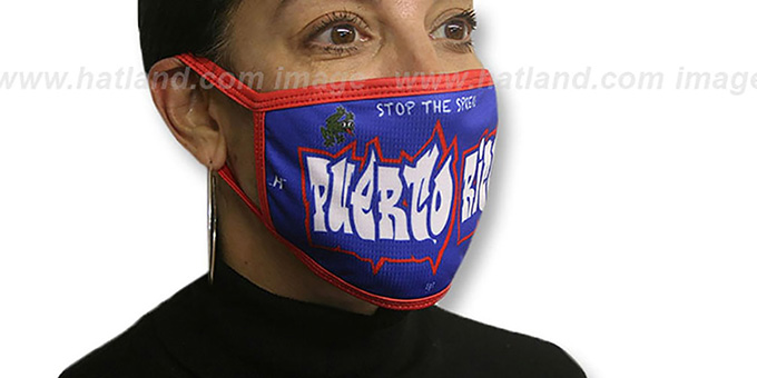 PUERTO RICO GRAFFITI Washable Fashion Mask by Hatland.com
