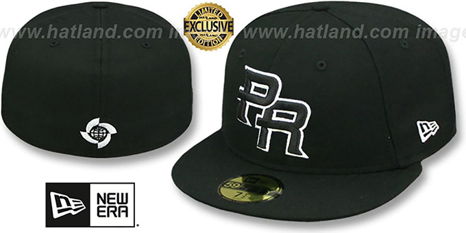 Puerto Rico PERFORMANCE WBC Black-White Hat by New Era 783b303cdef4