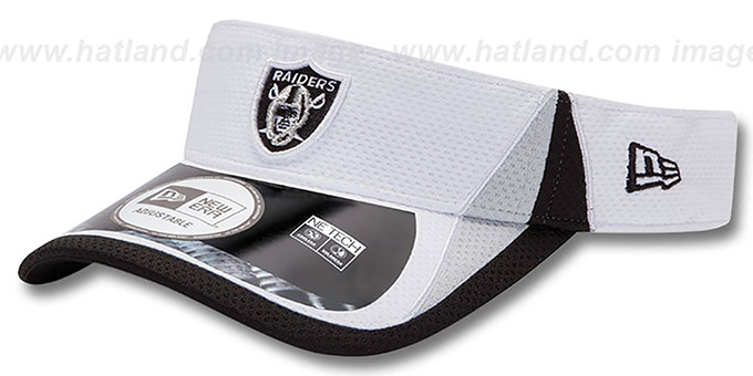 Raiders '2013 NFL TRAINING' White Visor by New Era : pictured without stickers that these products are shipped with