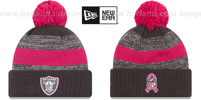 Raiders '2016 BCA STADIUM' Knit Beanie Hat by New Era : pictured without stickers that these products are shipped with
