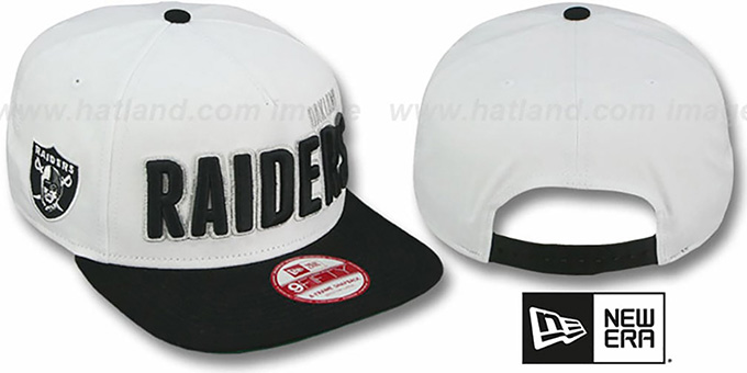 50407b45b68 Raiders  BIGSIDE A-FRAME SNAPBACK  White-Black Hat by New Era