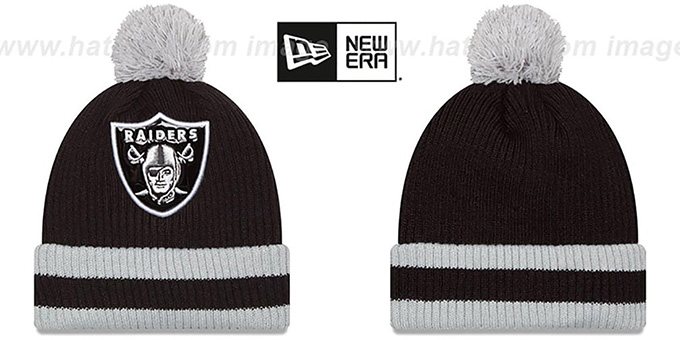 Raiders 'CHILLER FILLER BEANIE' Black-Grey by New Era : pictured without stickers that these products are shipped with