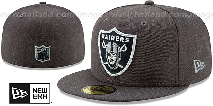 Raiders 'HEATHER-CRISP' Black Fitted Hat by New Era