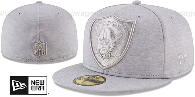 newest 7ea4a 11fc5 Raiders  MEGATONE  Grey Shadow Tech Fitted Hat by ...