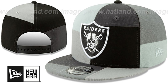 Raiders 'MONOCHROME PATCHWORK SNAPBACK' Hat by New Era