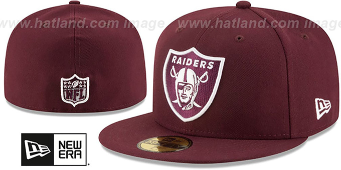 new concept c3cc5 7810d Raiders  NFL TEAM-BASIC  Maroon-White Fitted Hat by New Era