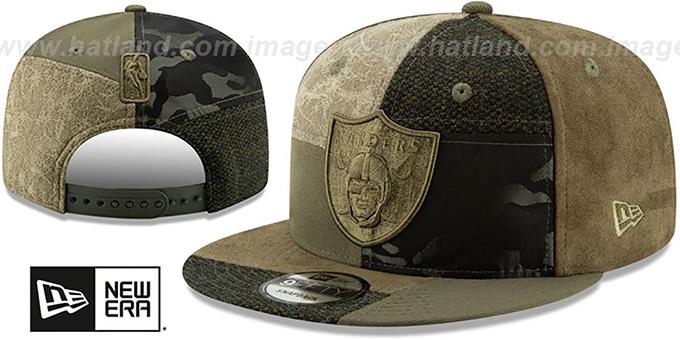 6d4de0f9 Oakland Raiders PATCHWORK PREMIUM SNAPBACK Hat by New Era. Raiders  'PATCHWORK PREMIUM SNAPBACK' Hat by ...