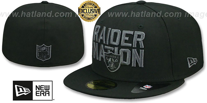562bbf49 Oakland Raiders RAIDER-NATION FADEOUT Fitted Hat by New Era