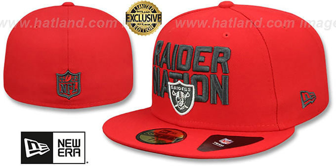 87a996f1 Oakland Raiders RAIDER-NATION Fire Red-Charcoal Fitted Hat by New Era