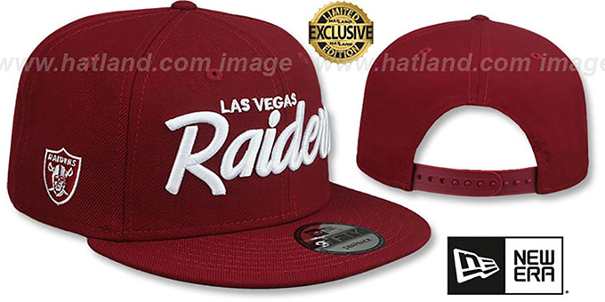 Raiders 'SCRIPT TEAM-BASIC SNAPBACK' Burgundy Hat by New Era