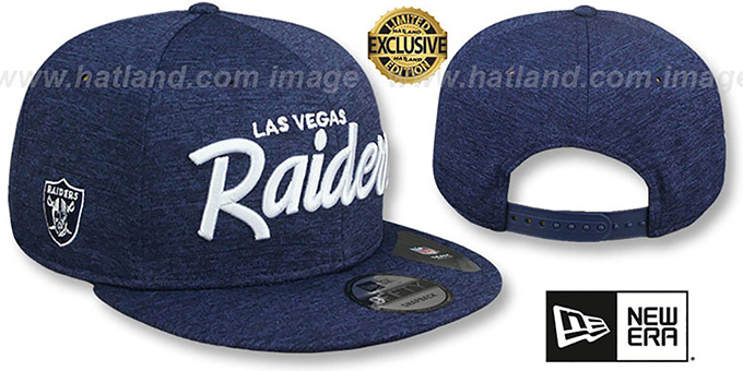 Raiders 'SCRIPT TEAM-BASIC SNAPBACK' Light Navy ST Hat by New Era