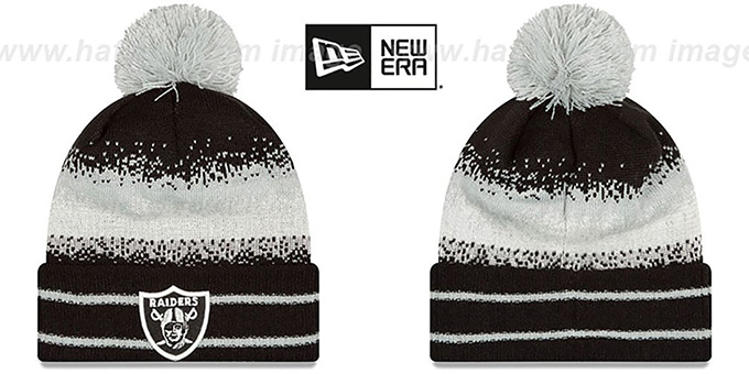 Raiders 'SPEC-BLEND' Knit Beanie Hat by New Era : pictured without stickers that these products are shipped with