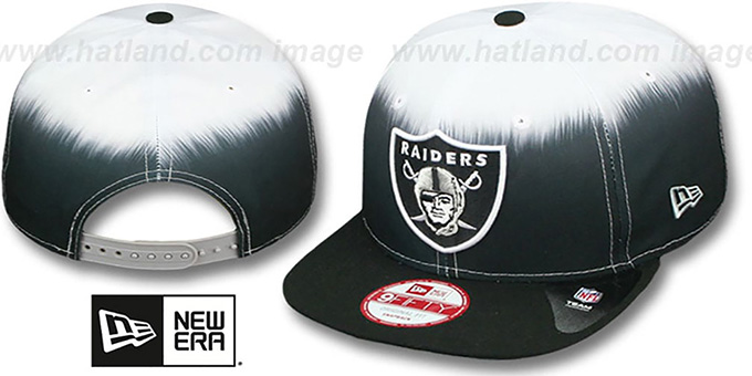 Raiders 'SUBLENDER SNAPBACK' Black-White Hat by New Era : pictured without stickers that these products are shipped with