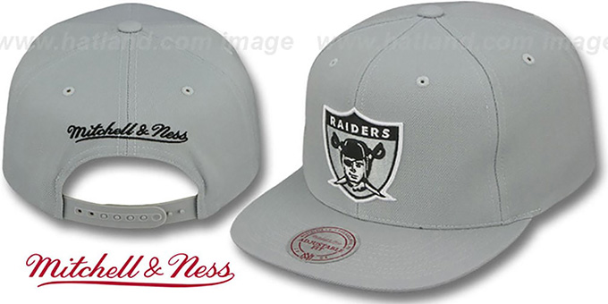 2a9b8746828 Raiders THROWBACK-BASIC SNAPBACK Grey Hat by Mitchell and .
