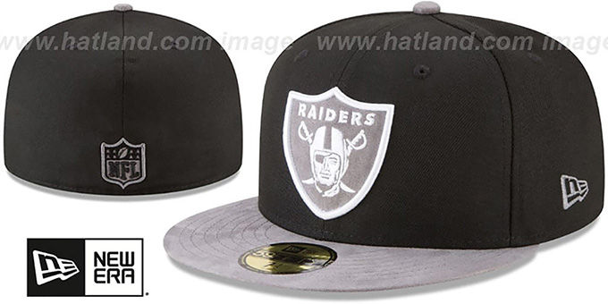 82638d5a Oakland Raiders TONAL-CHOICE Black Fitted Hat by New Era