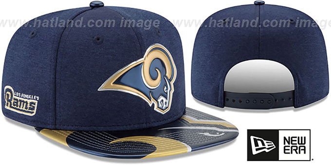 ab5c0432791 Los Angeles Rams 2017 NFL ONSTAGE SNAPBACK Hat by New Era. video available.  Rams  2017 NFL ONSTAGE SNAPBACK  Hat by ...