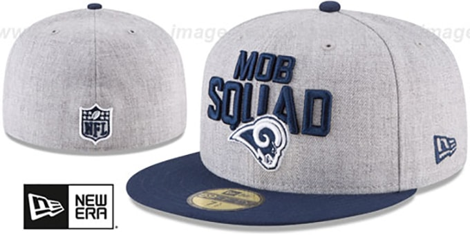 Rams '2018 ONSTAGE' Grey-Navy Fitted Hat by New Era