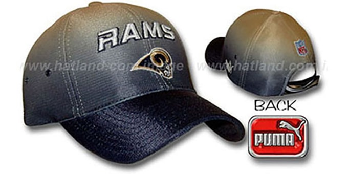 Rams 'ECLIPSE' Hat by Puma : pictured without stickers that these products are shipped with