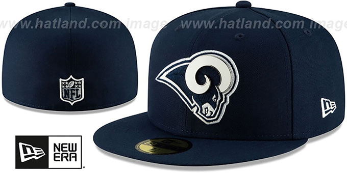 pretty nice 0bf70 3bda0 Rams  METAL-N-THREAD  Navy Fitted Hat by New Era