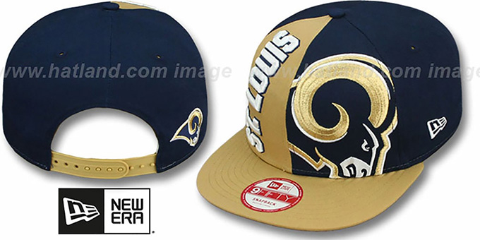 Rams 'NE-NC DOUBLE COVERAGE SNAPBACK' Hat by New Era : pictured without stickers that these products are shipped with