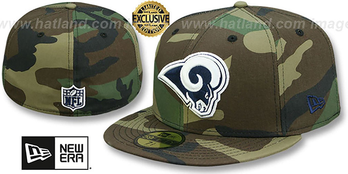 St Louis Rams NFL TEAM-BASIC Army Camo Fitted Hat by New Era 33192836a