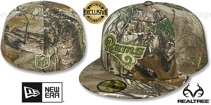 Los Angeles Rams NFL TEAM-BASIC Realtree Camo Fitted Hat 2b7b38ba5