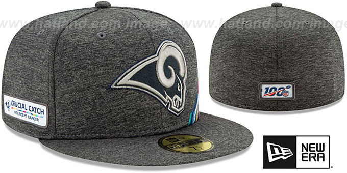 Rams 'ONFIELD CRUCIAL CATCH' Grey Fitted Hat by New Era