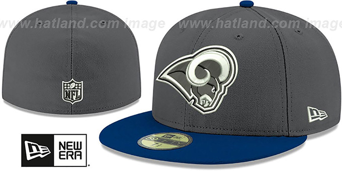 Rams 'SHADER MELT-2' Grey-Navy Fitted Hat by New Era : pictured without stickers that these products are shipped with