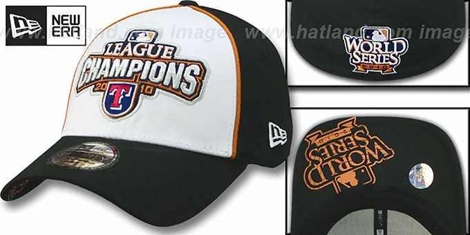 Rangers 2010 'AMERICAN LEAGUE CHAMPS' Hat by New Era : pictured without stickers that these products are shipped with