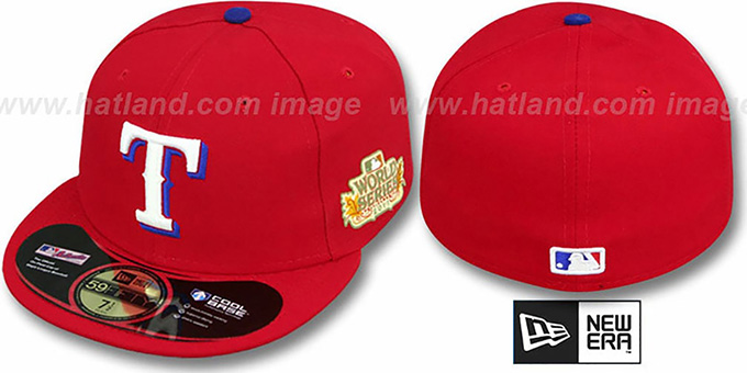 Rangers 2011 'WORLD SERIES ALTERNATE' Hat by New Era : pictured without stickers that these products are shipped with