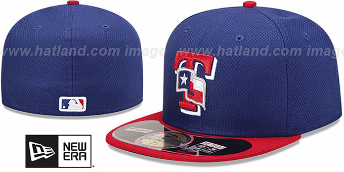 Rangers '2013 DIAMOND-TECH BP' Royal-Red Hat by New Era : pictured without stickers that these products are shipped with