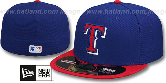Rangers '2014 DIAMOND-TECH BP' Royal-Red Hat by New Era : pictured without stickers that these products are shipped with
