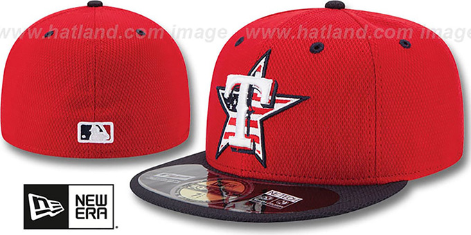 Rangers '2014 JULY 4TH STARS N STRIPES' Hat by New Era : pictured without stickers that these products are shipped with