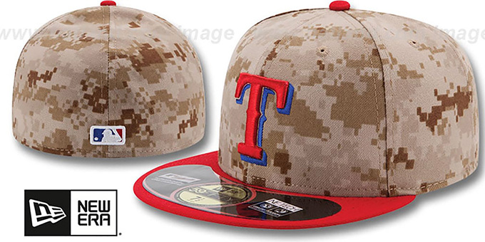 Rangers '2014 STARS N STRIPES' Fitted Hat by New Era : pictured without stickers that these products are shipped with