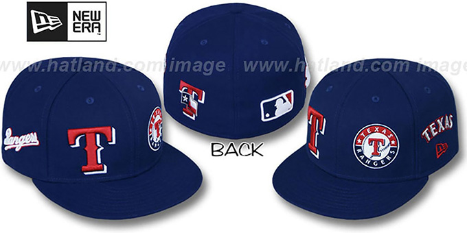 Rangers 'EVOLUTION' Fitted Hat by New Era - navy : pictured without stickers that these products are shipped with