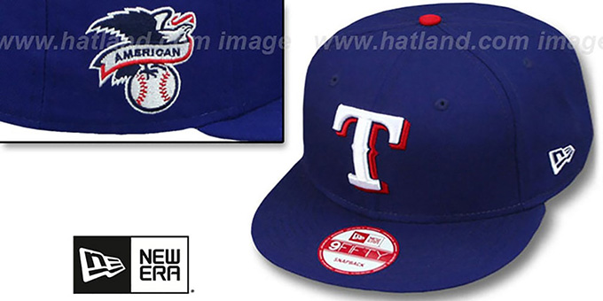 Rangers 'LEAGUE REPLICA GAME SNAPBACK' Hat by New Era : pictured without stickers that these products are shipped with