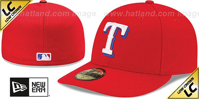 Rangers 'LOW-CROWN' ALTERNATE Fitted Hat by New Era : pictured without stickers that these products are shipped with