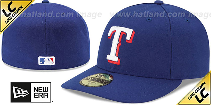 Rangers 'LOW-CROWN' GAME Fitted Hat by New Era : pictured without stickers that these products are shipped with
