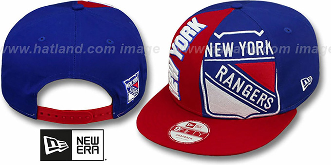 Rangers 'NE-NC DOUBLE COVERAGE SNAPBACK' Hat by New Era : pictured without stickers that these products are shipped with