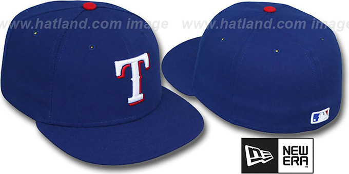 Rangers 'PERFORMANCE GAME' Hat by New Era : pictured without stickers that these products are shipped with