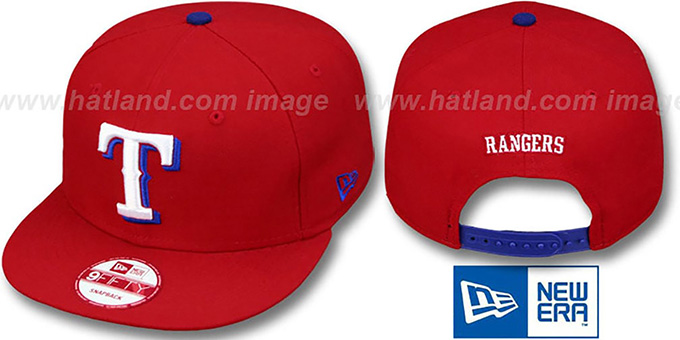 Rangers 'REPLICA ALTERNATE SNAPBACK' Hat by New Era : pictured without stickers that these products are shipped with