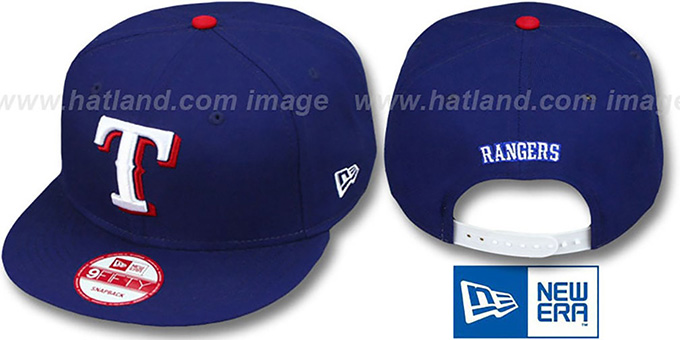 Rangers 'REPLICA GAME SNAPBACK' Hat by New Era : pictured without stickers that these products are shipped with
