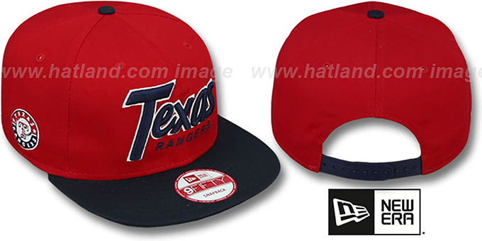 Rangers 'SNAP-IT-BACK SNAPBACK' Red-Navy Hat by New Era : pictured without stickers that these products are shipped with