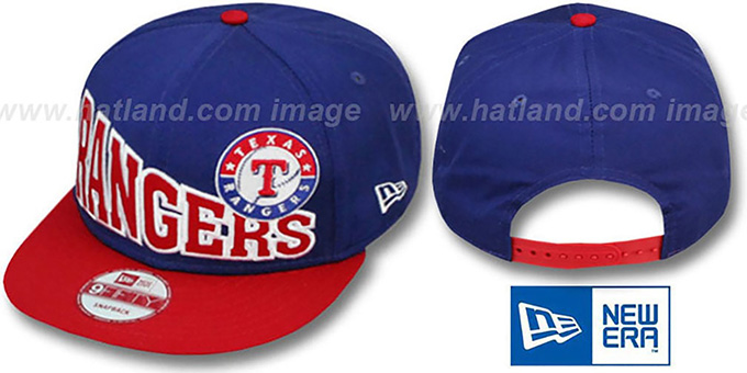 Rangers 'STOKED SNAPBACK' Royal-Red Hat by New Era : pictured without stickers that these products are shipped with