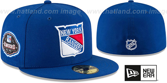 Rangers 'TEAM-SUPERB' Royal Fitted Hat by New Era : pictured without stickers that these products are shipped with