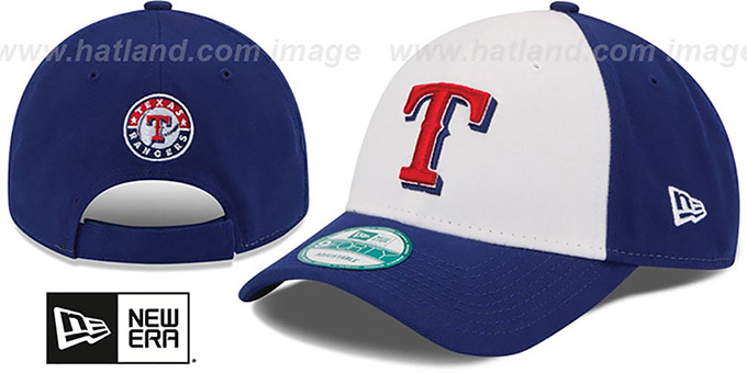 Rangers 'THE-LEAGUE STRAPBACK' White-Royal Hat by New Era : pictured without stickers that these products are shipped with