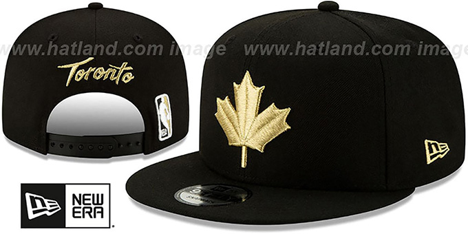 Raptors 19-20 'CITY-SERIES' ALTERNATE SNAPBACK Black Hat by New Era